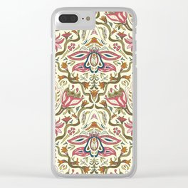 Orchid Art Nouveau Clear iPhone Case