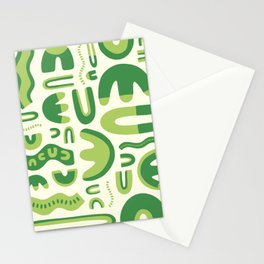 Abstract lettuce Stationery Cards