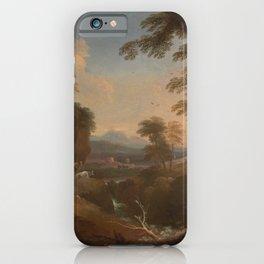 Adriaen van Diest - Landscape with Distant Mountains (1698) iPhone Case