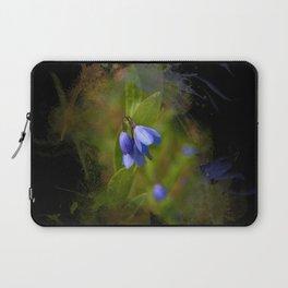 Pretty bluebells on black Laptop Sleeve