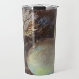 Asters. Bouquet in a Vase. Flowers Travel Mug