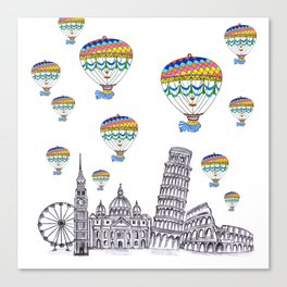 Travel with Air Balloons Canvas Print