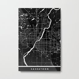 Saskatoon - Minimalist City Map Metal Print