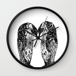 Penguin Couple Wall Clock