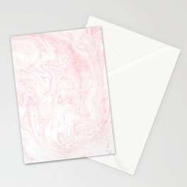 Pink Rose Gold Marble Print Stationery Cards