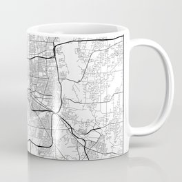 Minimal City Maps - Map Of Rochester, New York, Untited States Coffee Mug