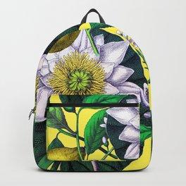 Vintage Lotus + Lemons Backpack