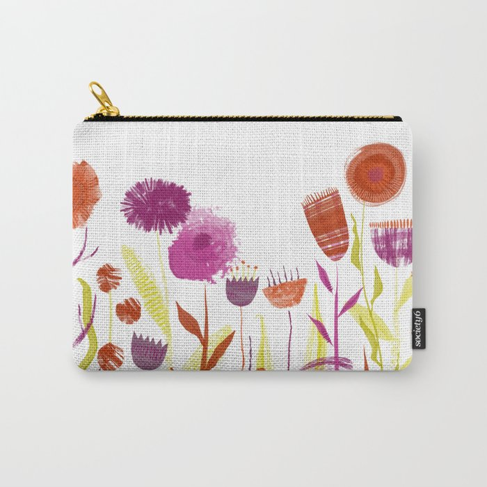 Mixed up Meadow Carry-All Pouch