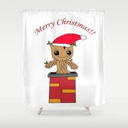 Christmas Baby Tree Shower Curtain