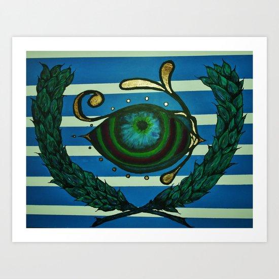 Eye, Greek Olive Art Print