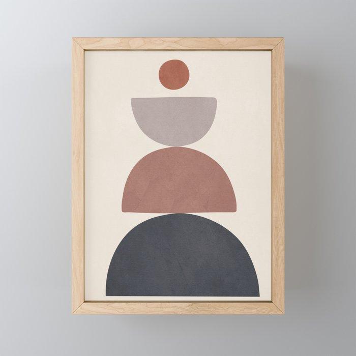 Balancing Elements III Framed Mini Art Print