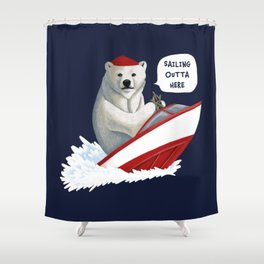Sailing Outta Here Shower Curtain