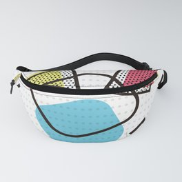 Memphis Throwback Retro Blue 1990s 90s Trendy Hipster Pattern Eighties Shapes Fanny Pack