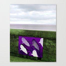 violet sharks Canvas Print