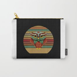 Retro Owl Gift Idea Motif Design Carry-All Pouch