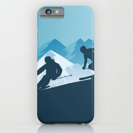 Let's Ski • Winter Sport • Christmas Special iPhone Case