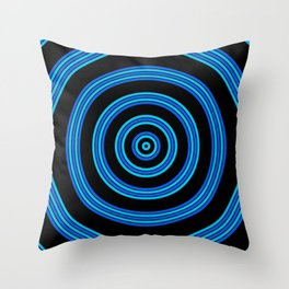 Ripples - Turquoise Throw Pillow