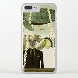Surf trippin Clear iPhone Case