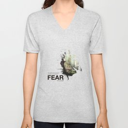 """""""The oldest and strongest emotion of mankind is FEAR."""" Unisex V-Neck"""