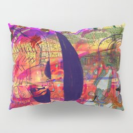 Cave painting with Egyptian Gods Pillow Sham