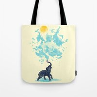 splash Tote Bags featuring summer splash by Steven Toang