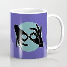 Sign Language (ASL) Interpreter – Black on Turquoise 02 Mug