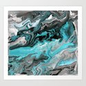 Turquoise Marble by catherineholcombe