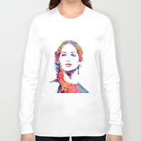 katniss Long Sleeve T-shirts featuring Katniss by lauramaahs