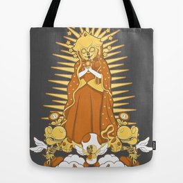Holy Peach Day of the Dead Tribute Tote Bag