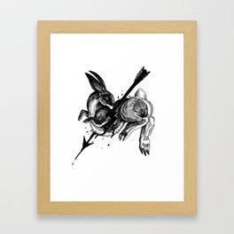 Hunted Rabbit Framed Art Print