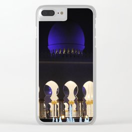 Sheikh Zayed Grand Mosque Entrance Clear iPhone Case