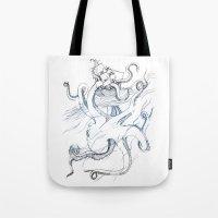 kraken Tote Bags featuring Kraken by Kyle Naylor