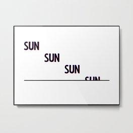 Setting Sun Metal Print