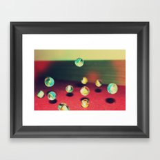 Retro Marbles Framed Art Print