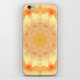Orange Dream Mandala iPhone Skin