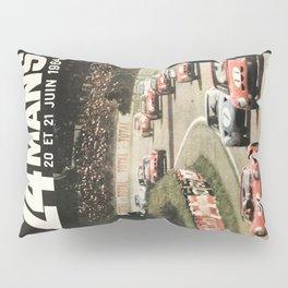 Le Mans poster, 1964, 24hs Le Mans, original vintage poster Pillow Sham