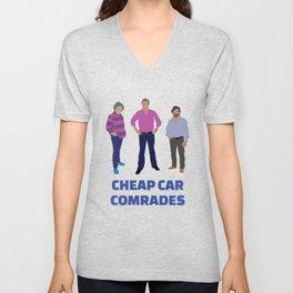 """Cheap Car Comrades"" - Clarkson, Hammond and May art work Unisex V-Neck"