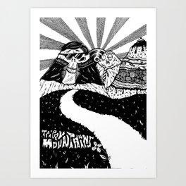 Trippy Mountains Art Print