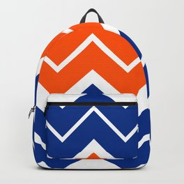 Big Chevron:  Blue + Orange Backpack
