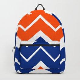 Big Chevron:  Blue + Orange Backpack