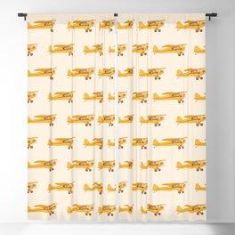 Little Yellow Plane Blackout Curtain