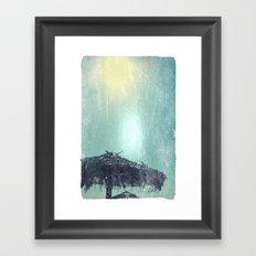 Umbrella on Beach (alt) Framed Art Print