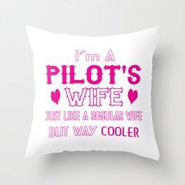 Pilot's Wife Throw Pillow