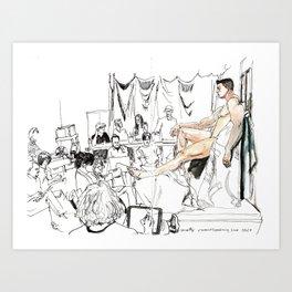 Figure Drawing, 106 Art Print