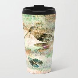 Mauritius Vintage Dragonflies QR Travel Mug