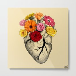 Flower Heart Metal Print