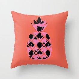 Punk'd Pineapple Throw Pillow