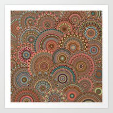 Mandala Mania-Vintage colors Art Print