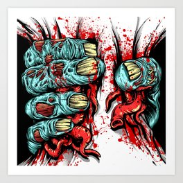 Zombie Hand Crusher Art Print