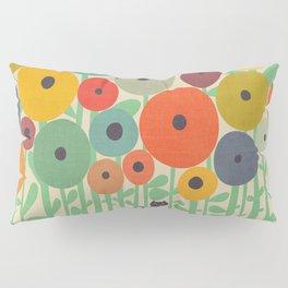 Cat in flower garden Pillow Sham